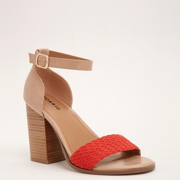 1e06a461a59 Braided Block Heels (Wide Width)